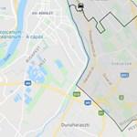 Villanyoszlopnak ütközött egy autó Budapesten, tűzoltók a helyszínen