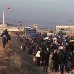 Sokkoló felvételek: Tízezrek menekülnek pánikban Szíriából