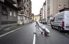 Olaszországban újra csökkent az elhunyt koronavírusos betegek száma