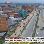 Lesújtó videó: drónt küldtek a romos Katmandu fölé