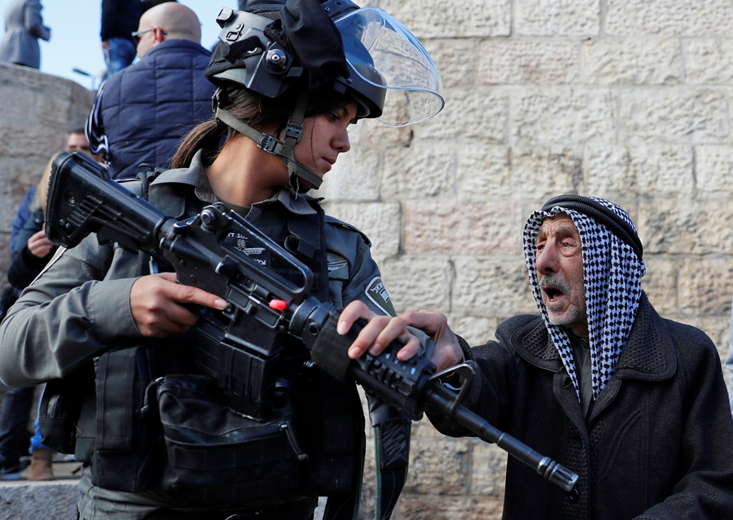 afp.17.12.07. tüntetés jeruzsálem óvárosában