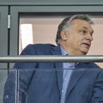 A NER elitje Orbánnal nézi a Vidi stadionavatóját a díszpáholyból - fotók