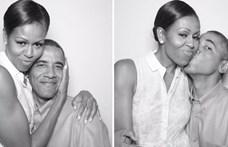 Barack Obama nem tud leállni a hülyéskedéssel Michelle Obama mellett