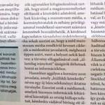 Haditudósítónak nézett egy napilapot a Magyar Idők