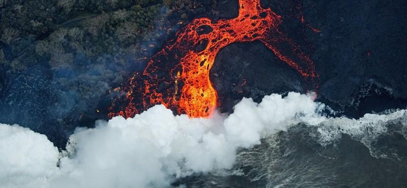 113 500 000 köbméter lávát lövellt ki öt hét alatt a Hawaii szigetén tomboló vulkán