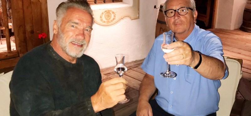 Schwarzenegger együtt pálinkázott Junckerrel