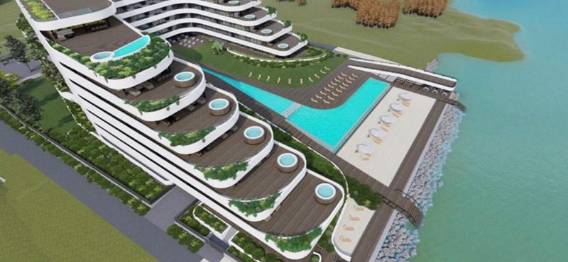 Az Alkotmánybíróságtól kéri Balatonvilágos, hogy vonják vissza a vízpartra tervezett hatalmas társasház építési engedélyét