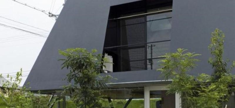 Bunker vagy piramis? Különleges családi ház Japánból