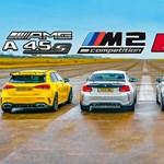 Kis kompaktok nagy csatája: Mercedes-AMG A45S, BMW M2, Audi RS3, VW Golf R