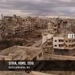 Világháborús filmeket idéző videó jött Homszból, a kísértetvárosból