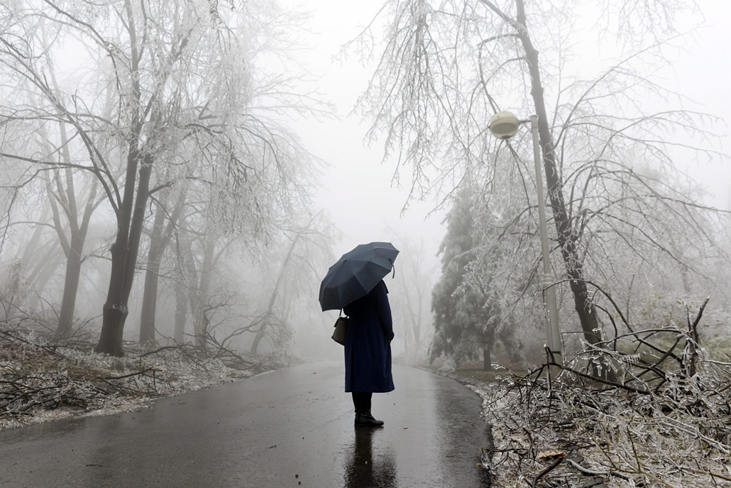 mti. Ónos eső budapesten 2014.12.02. tél 2014, jegesedés