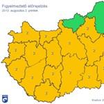Hőség: szinte az egész országra figyelmeztetést adtak ki