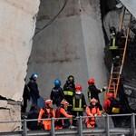 Genovai hídomlás: újabb holttestek kerültek elő a romok alól