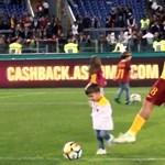 A Roma-játékos felrúgta saját gyerekét, ezért kell a videóbíró