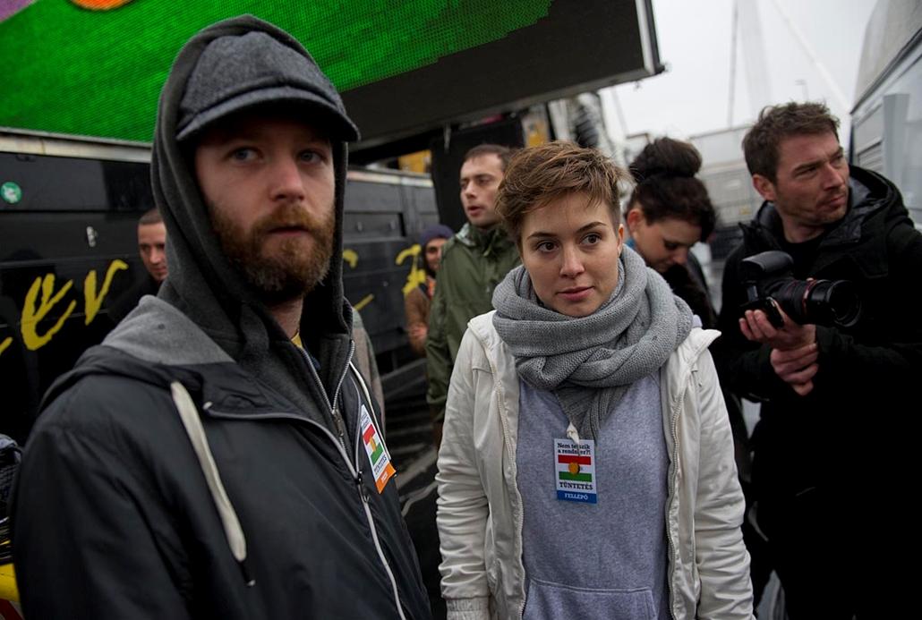Nem tetszik a rendszer tüntetés a Szabad Sajtó úton - Millás tüntetéssorozat
