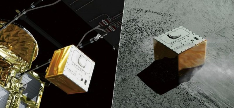 A Hajabusza-2 ledobott egy új kutászdroidot az űrben száguldó aszteroidára