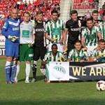 Fotó: banánnal pózoltak a Fradi és a Diósgyőr focistái is