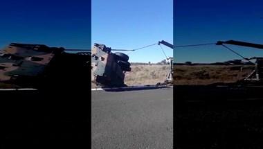 Majdnem jól kitalálták ennek a katonai járműnek a talpra állítását, csak hát ugye – videó
