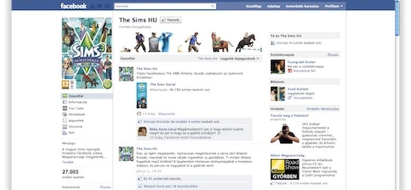 Nyáron jön a Sims játék Facebookra
