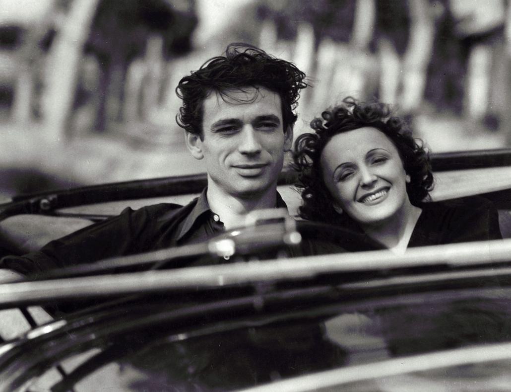 1946. - Edith Piaf és Yves Montand a ''Etoile Sans Lumiere'' című film egyik jelenetében - Edith Piaf