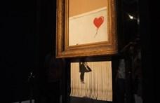 Banksy a teljes képét le akarta darálni, csak elromlott az iratmegsemmisítő
