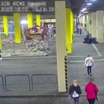 Rendőrtől próbált pisztolyt lopni egy férfi Budapesten – videó