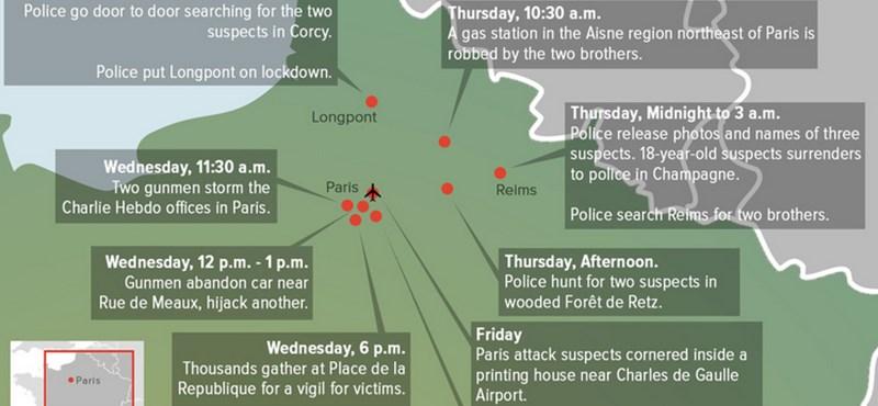Térkép: Ha már nem tudja követni a hajtóvadászatot Párizsban és környékén