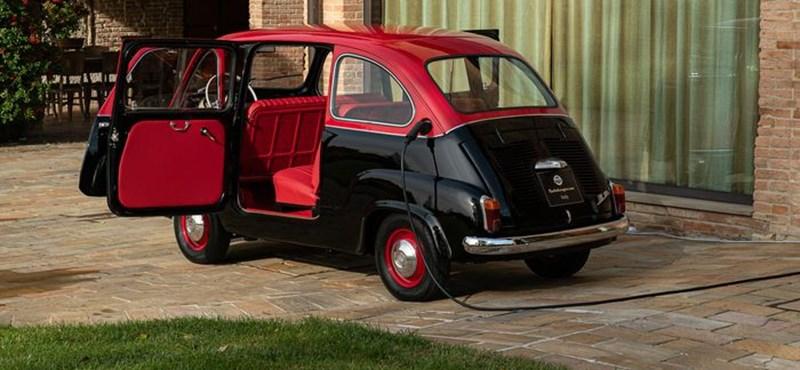 Eladó egy gyönyörű, 57 éves, elektromossá alakított Fiat Multipla