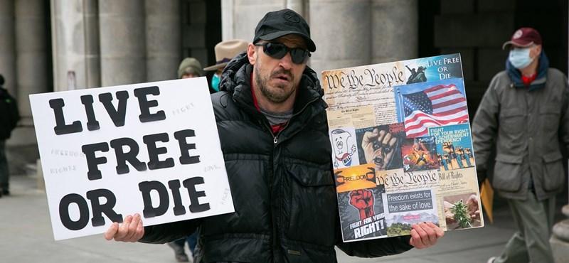 USA: újabb karanténellenes tüntetések