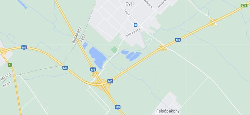 Több kilométeres a dugó az M0-son