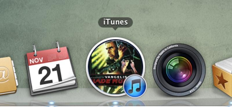 Az iTunes ikonjának cseréje az éppen játszott dal borítójára