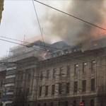Kigyulladt az adóhivatal épülete Kassán