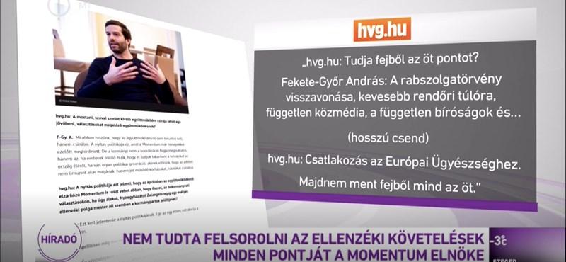 Inkább felolvasták az 5 pontot az M1 híradójában, csakhogy belerúghassanak Fekete-Győrbe