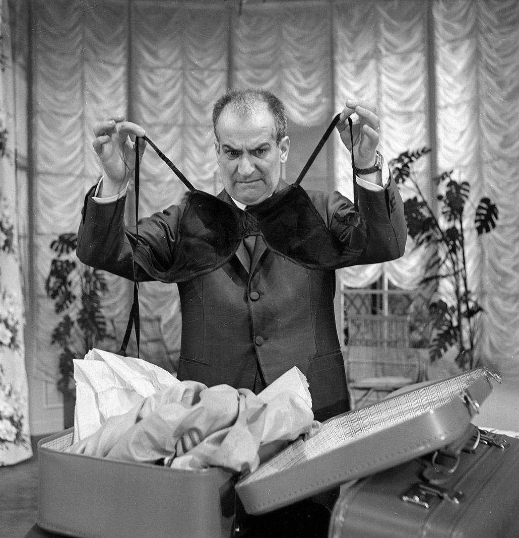 afp.1967. - Louis de Funes az ''Oscar'' című filmben - melltartó nagyítás