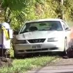 A nap videója: Teljesen elnyelte a forró láva a Ford Mustangot