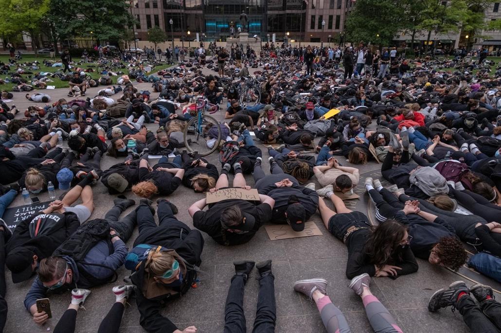Nagyítás - afp.20.06.01. George Floyd tüntetés