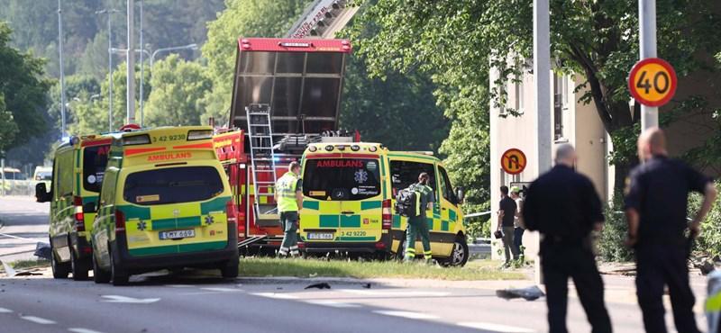 Robbanás volt egy svéd városban, sok a sérült