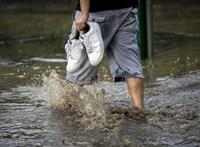 Somogyban akkora eső volt, hogy a rengeteg víz betörte egy hivatal ablakát