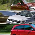 Mire jó egy felfújt kompakt? – BMW vs. Mercedes vs. VW Sportsvan