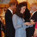 Katalin hercegné gömbölyödő pocakkal tért vissza a nyilvánosság elé