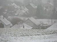 Zala megyét már beborította a hó – fotók