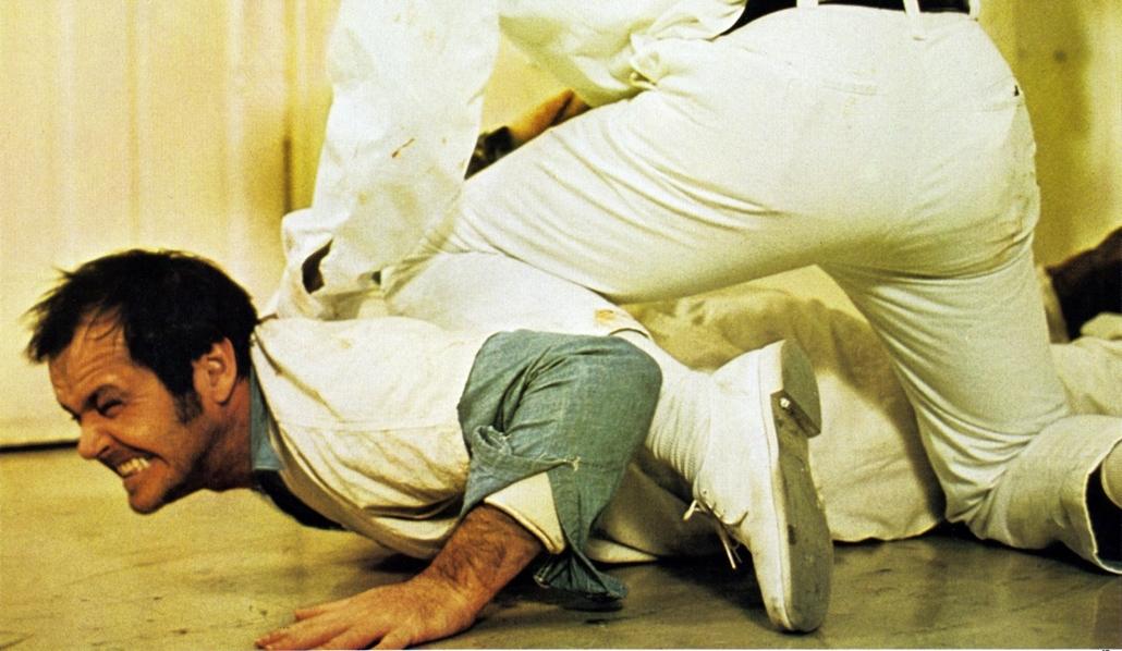 afp.1975. - A Milos Forman által rendezett Száll a kakukk fészkére című drámában. - Jack Nicholson nagyítás