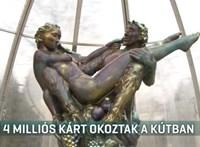 Összetörték az értékes Zsolnay-szökőkutat Harkányban – videó