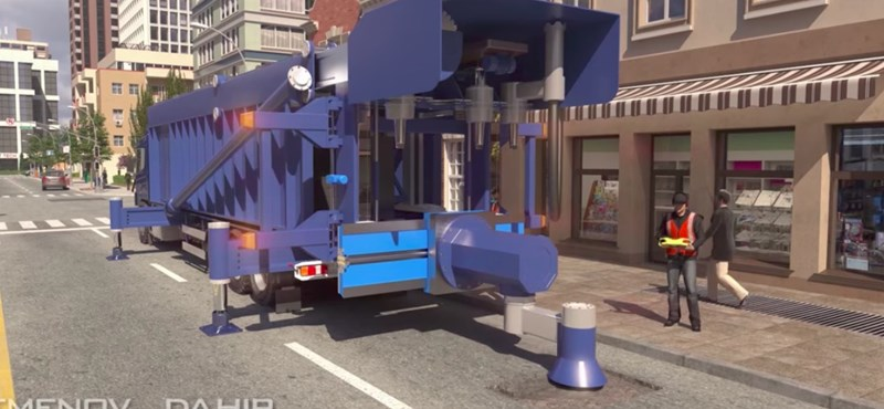 Zseniális videó: itt a gép, ami 5 perc alatt befoltozza a kátyúkat