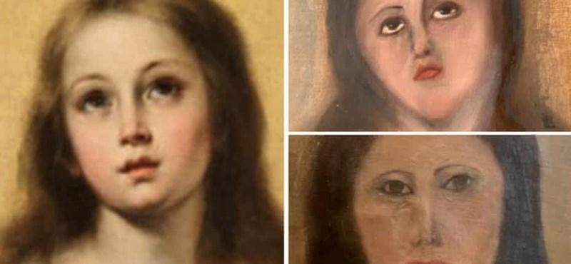 Mit művelnek már a spanyol festményekkel? Most Szűz Máriát torzították felismerhetetlen lénnyé