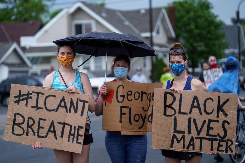 Nagyítás - afp.20.05.26. George Floyd tüntetés