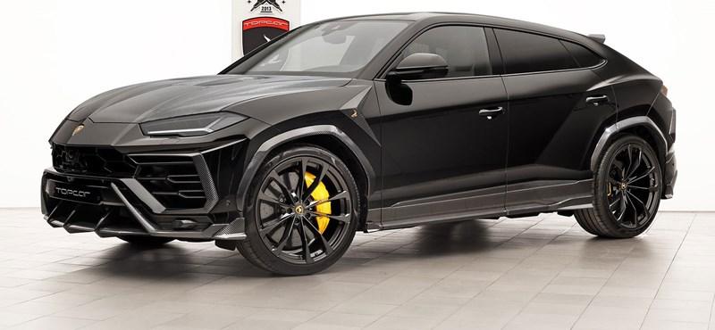 Rendes orosz cégautó egy ilyen Darth Vader-szerű Lamborghini Urus