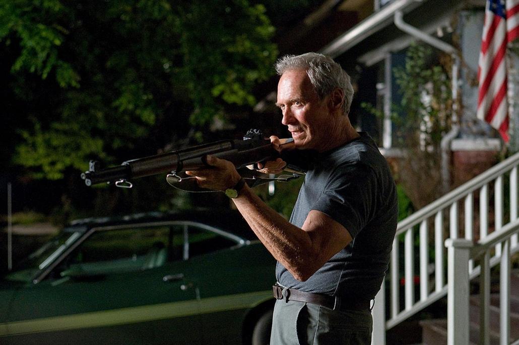 afp.2009. - Clint Eastwood a Gran Torino egyik jelenetében