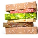 Sajtburger csomagolópapír a kreatív karácsony alapkelléke