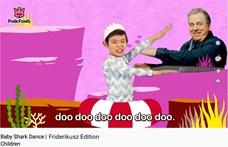 Hogy kerül Friderikusz Sándor a Baby Shark videójába?